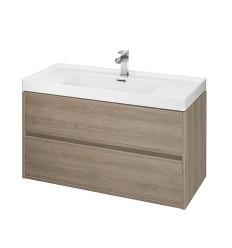 Szafka z umywalką dąb 100 Crea Cersanit (S801-290)