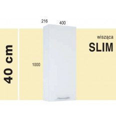 Szafka wisząca 40 Slim Roma white Elita (1110110)