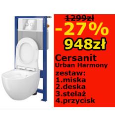 Stelaż podtynkowy z miską Urban Harmony SET B164 Cersanit (S701-364)
