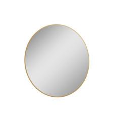 Lustro LED Sharon Round z efektowną ramą w kolorze gold Elita (168129)