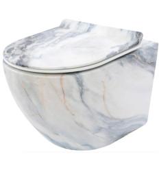Miska wisząca WC bezrantowa Carlos Duroplast/Slim/ZM Granit Matt Rea (REA-C8003)