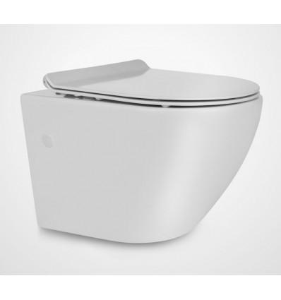Miska wisząca WC z deską Slim Decos Mini Rimless Massi (MSM-0003SLIM)
