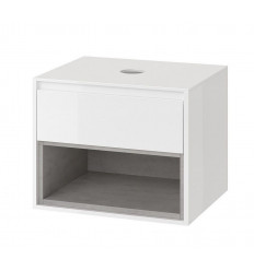 Szafka pod umywalkę nablatową biały/beton Tuto Excellent (MLEX.0102.600.WHCO)