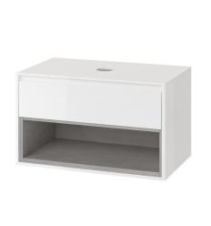 Szafka pod umywalkę nablatową biały/beton Tuto Excellent (MLEX.0102.800.WHCO)