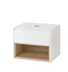 Szafka pod umywalkę nablatową biały/dąb Tuto Excellent (MLEX.0102.600.WHBL)