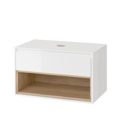 Szafka pod umywalkę nablatową biały/dąb Tuto Excellent (MLEX.0102.800.WHBL)