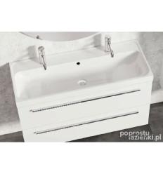 Zestaw szafka z umywalką 100 Kwadro Plus White Elita (166714 + 22052011N)