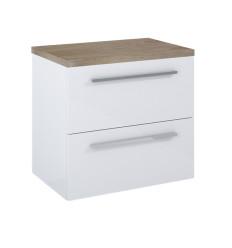 Zestaw szafka pod umywalkę nablatową 80 Kwadro Plus White Elita (166713 + 166872)